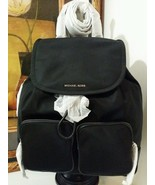 NWT MICHAEL MICHAEL KORS Cara Large 2 Pocket Nylon Backpack Black MSRP $348 - $269.00