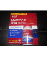 Melatonin Ultra Schiff 3 mg Melatonin 365 Table... - $11.99