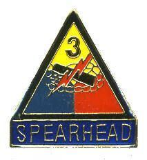 12 Pins - 3RD ARMORED DIVISION SPEARHEAD third pin 674