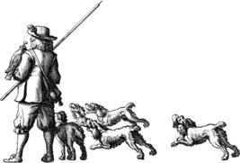 renaissance man with hunting dogs printable art png clipart digital down... - $2.50