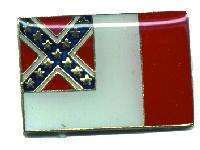 12 Pins - 3rd CONFEDERACY , confederate flag pin 4849