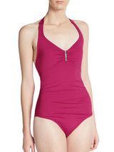 Calvin Klein Bar Halter One-Piece Swimsuit with Removable Soft Cups, Sz. 12 - $61.78