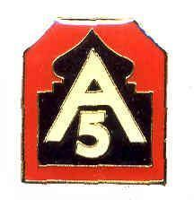 12 Pins - 5TH ARMY , fith 5 hat lapel pin 637