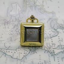 Gold Plate Square Design with MOP Ladies Pendant Watch Quartz Necklace G... - $14.49