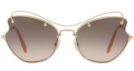 Authentic Miu Miu MU56RS ZVN3D0 61 Sunglasses Pale Gold /Brown Gradient ... - $178.18