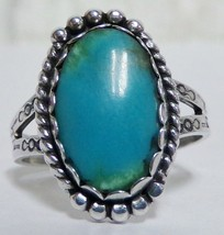 Maisel's Sterling Silver 925 Turquoise Ring Sz 8.75 Beautiful Old Stamping - $29.99