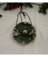 Birdfeeder, Hanging, Resin, Fairies in the Garden with Gazing Ball - $20.00