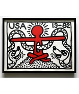 Keith Haring 1982 Color Lithograph Signed Numbered Edition 50 Framed JKL... - $34,500.00