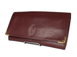 CARTIER Cartier Must De Bordeaux Leather Evening Clutch Bag CP0078 - $149.00