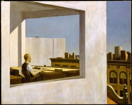 EDWARD HOPPER OFFICE IN A SMALL CITY FINE ART PRINT 32x24 - $13.95