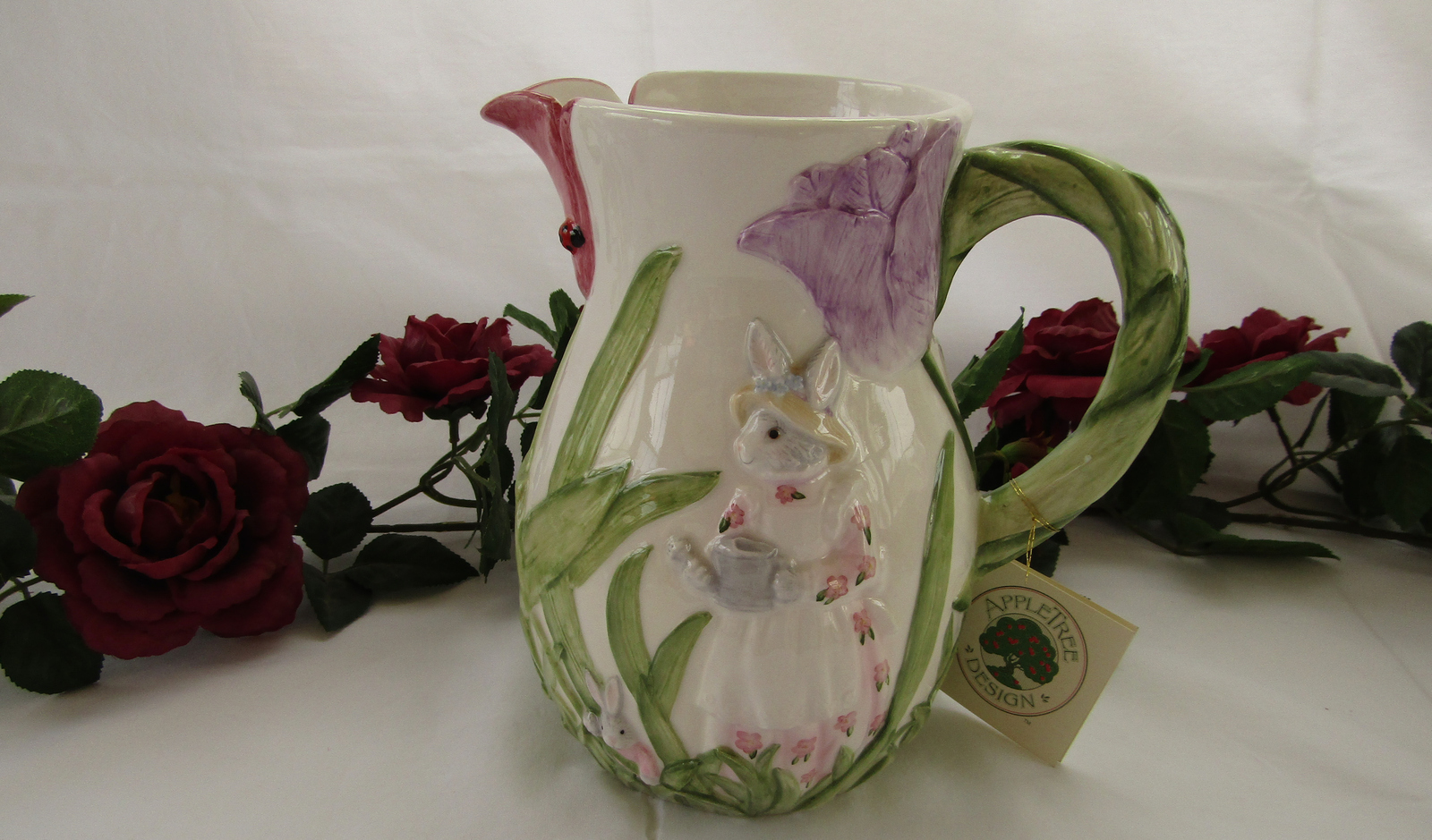 Pitcher, Ceramic, Easter/Spring Bunny
