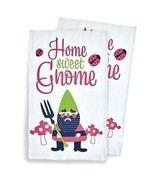 Kitsch'n Glam Tea Towels - Garden Gnome - £7.40 GBP