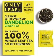 pack of 2  ONLYLEAF Dandelion Green Tea, Made with 100% Whole Leaf & Natural Dan - $36.99