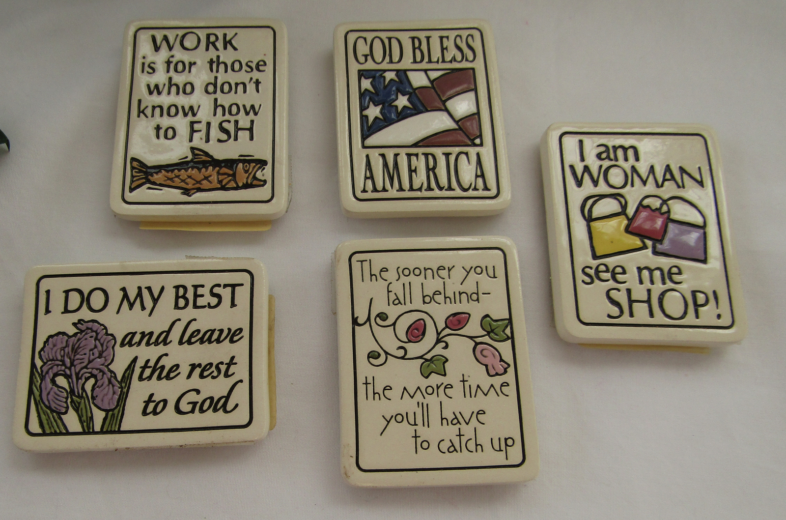 5 Magnets, Ceramic, Spooner Creek Designs