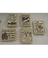 5 Magnets, Ceramic, Spooner Creek Designs - $30.00
