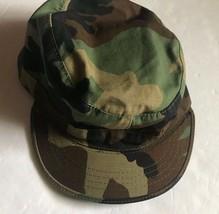 US Army Military Cap  Hat Woodland Camo  Sz 7 - $5.79
