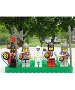 LEGO #6078 MINIFIGS from Royal Drawbridge 5 MINIFIGURES KNIGHTS,SKELETON... - $37.50