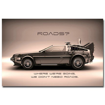 Back To The Future Classic Movie Car Art Poster... - $13.95
