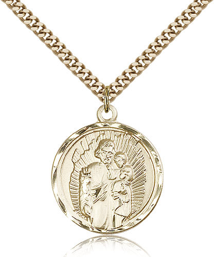 Primary image for ST. JOSEPH - Gold Filled Medal & Chain - 0036K