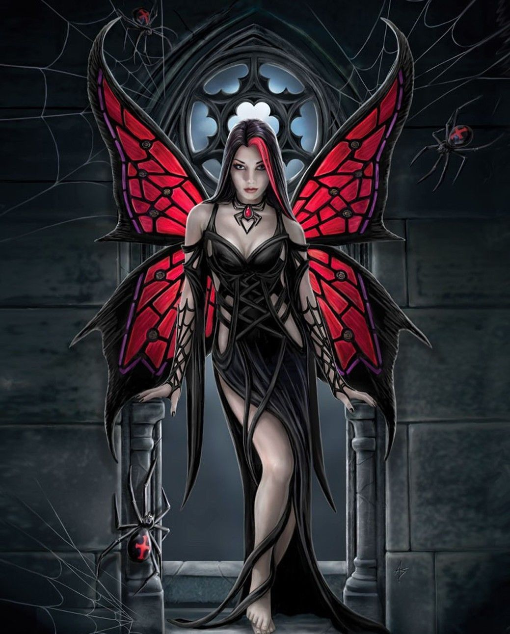 Anne Stokes Angel Rose Wall Print POSTER Decor 32x24