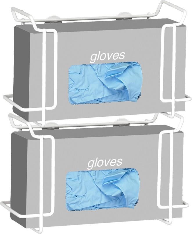 Double Wire Glove Box Dispenser, White Model Number 552