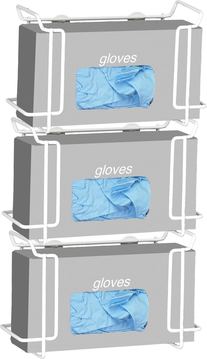 Triple Wire Glove Box Dispenser, White Model Number 553