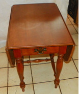 Maple Ethan Allen Dropleaf End Table / Side Tab... - $399.00