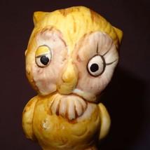 """Vintage Owl Bell Ceramic Tree Stump Brown 4"""" - $9.34"""