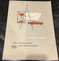 1955 Ford Motor Company A Decade of Growth Investment Shareholders Repor... - $19.99