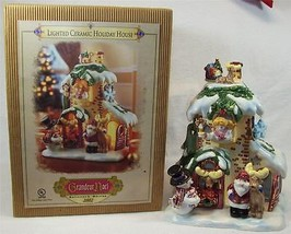 Grandeur Noel Lighted Ceramic Holiday House Collector's Edition 2002 - $15.99