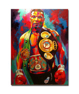 Mike Tyson Fighting Boxing Sports Art Poster Print 32x24 - $13.95