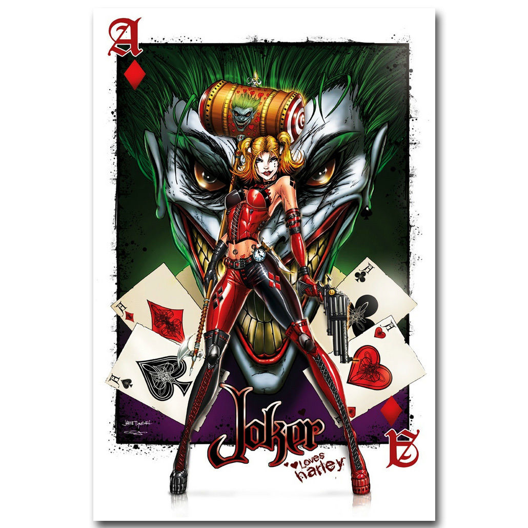 joker and harley quinn superheroes comic poster 32x24. Black Bedroom Furniture Sets. Home Design Ideas