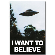 I WANT TO BELIEVE - The X-Files Poster Print 32x24 - $13.95