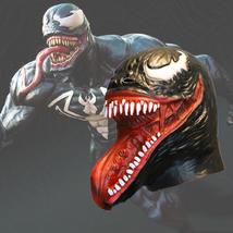 Venom Mask Helmet Halloween Cosplay Season Natural Platex - $38.08 CAD