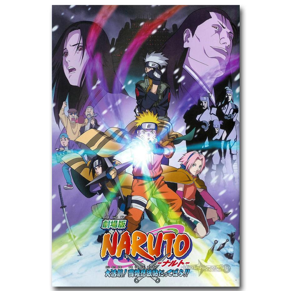 Naruto Shippuden Japanese New Anime Poster Kakashi Sasuke