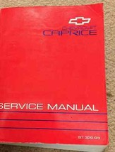 1993 GM Chevrolet Caprice Service Shop Repair Workshop Manual FACTORY OEM - $44.54