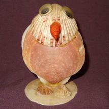 "Vintage Owl made of Sea Shells Mauve Cream 3"" - $16.34"