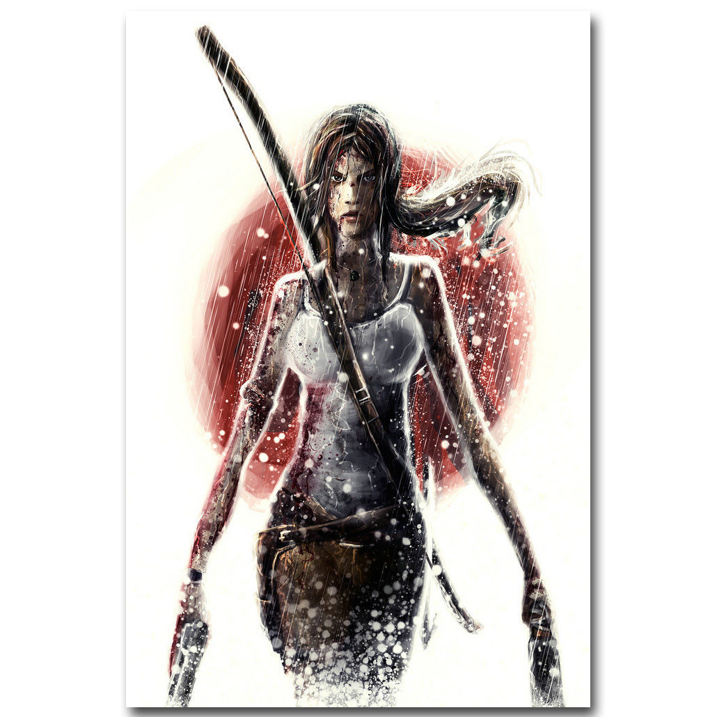 Rise Of The Tomb Raider Art Silk Fabric: Rise Of The Tomb Raider Video Game Poster Lara Croft 32x24