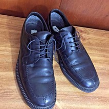 Men's Alfani Black Leather Dress Shoes Size 12 Made In Italy - $30.39