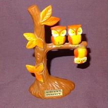 """Vintage Owl Tree Nobody's Perfect Upside Down 5""""  Hong Kong Brown Orange - $19.34"""