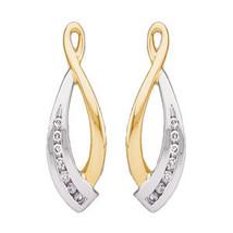 14K Two Tone Gold Diamond Earring Jacket - $559.99