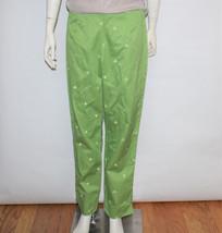 Womens Liz Claiborne Michaela Green 100% Cotton Nautical Sailboat Pant S... - $19.80