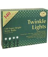 Twinkle 140 Lights w/green cord Primitive Christmas tree Lighting  - $26.95