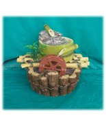 Happy Bamboo Mill with Water Wheel Pouring Tabletop Fountain - $70.50