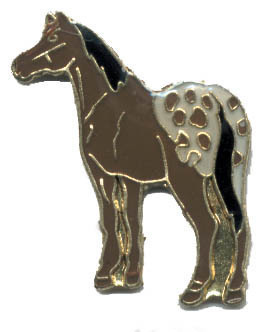 12 Pins - Appaloosa HORSE , hat tac lapel pin #4133