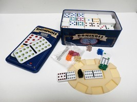 Vintage Double 12 Shiny 91 Jumbo Color Dot Dominoes by Cardinal - $15.00