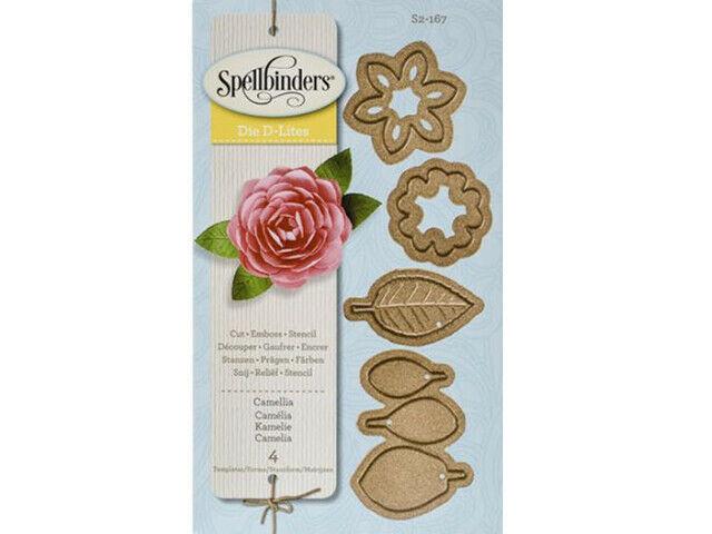 Spellbinders Die D-Lites Create a Flower Camellia Die Set #S2-167
