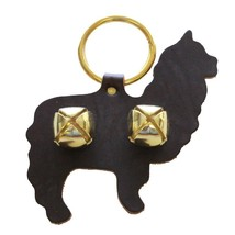 ALPACA DOOR CHIME - HANDCUT LEATHER w/ BRASS SLEIGH BELLS Amish Handmade... - $19.57