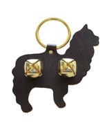ALPACA DOOR CHIME - HANDCUT LEATHER w/ BRASS SLEIGH BELLS Amish Handmade... - $19.57