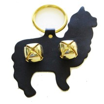ALPACA DOOR CHIME - BLACK LEATHER w/ BRASS SLEIGH BELLS Amish Handmade i... - $19.57